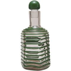 Bottle with Stopper by Paolo Venini
