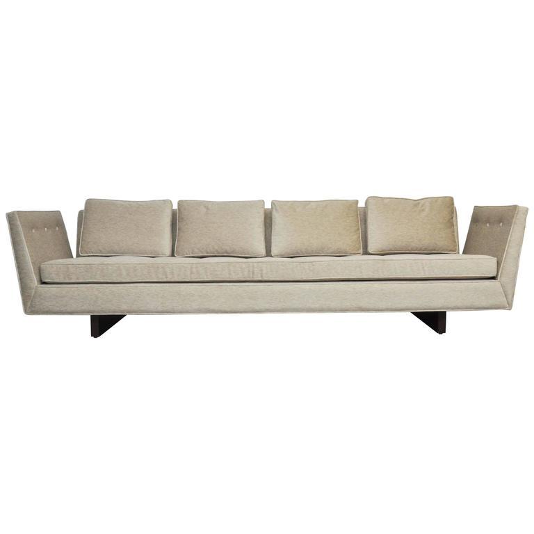 Monumental Dunbar Open-Arm Sofa by Edward Wormley