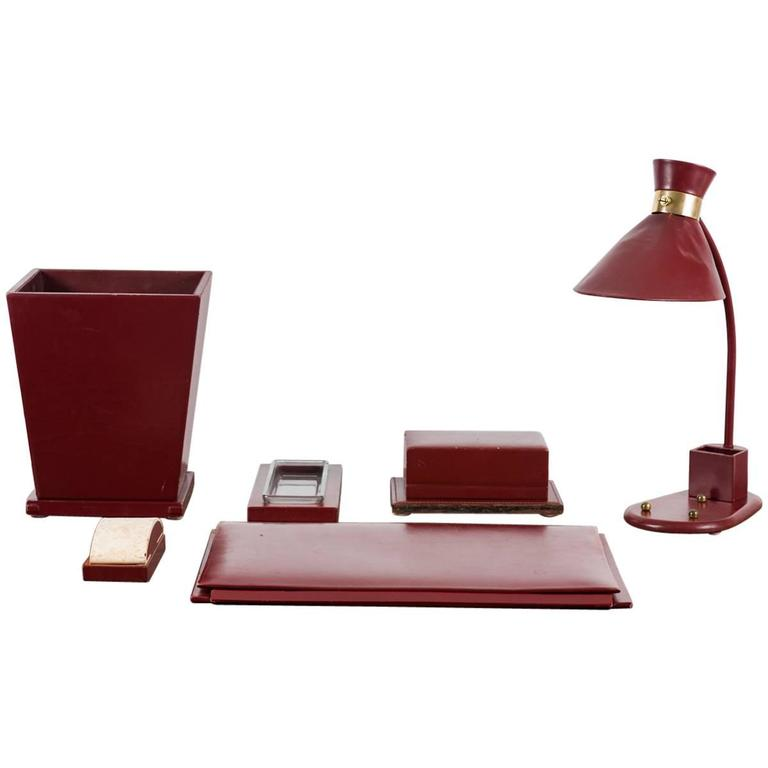 Jacques Adnet Desk Set