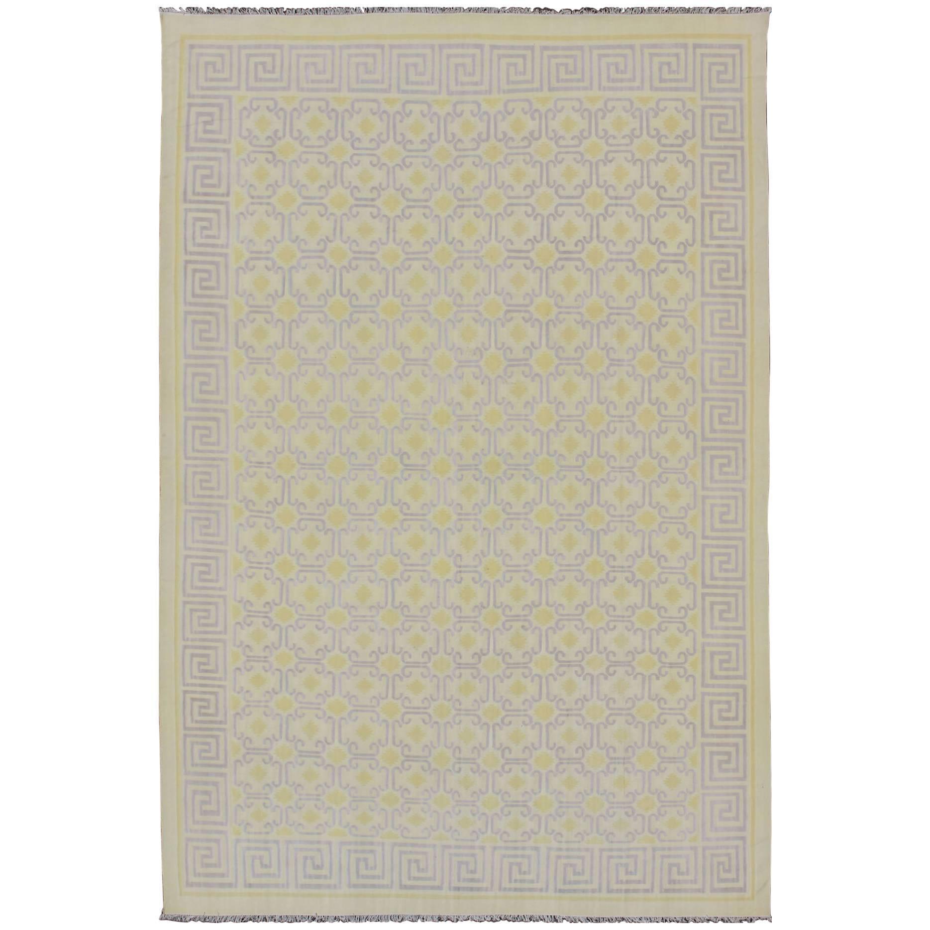 Large Vintage Indian Cotton Dhurrie