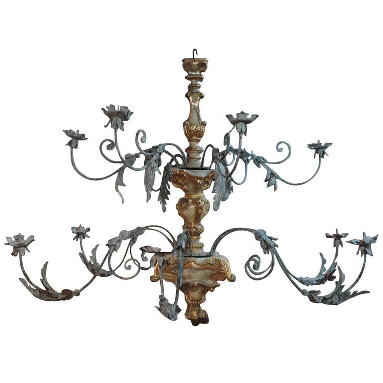 Monumental Italian 18th Century Baroque Chandelier For Sale
