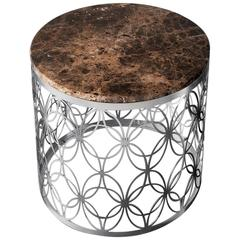 Arnold Side Table Stainless Steel Structure and Marble Top