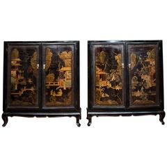 Elegant Pair of Chinese Cabinets