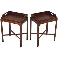 Pair of English Tray Tables of Mahogany