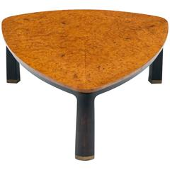 Edward Wormley for Dunbar Burl Elm Coffee Table