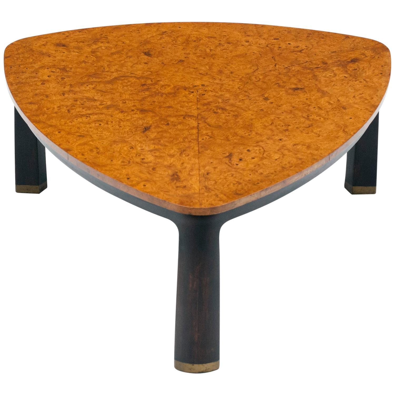 Lane Switchblade Coffee Table: Edward Wormley For Dunbar Burl Elm Coffee Table For Sale