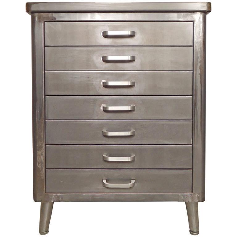 Damaged Kitchen Cabinets For Sale: Restored Vintage Factory Cabinet For Sale At 1stdibs