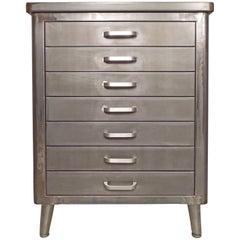 Restored Vintage Factory Cabinet