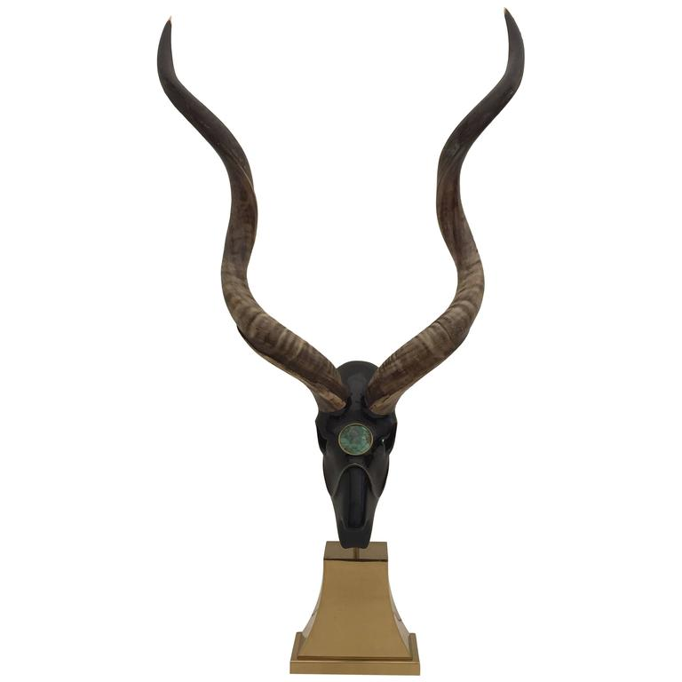 Impressive Antelope Sculpture Style of Jacques Duval Brasseur For Sale