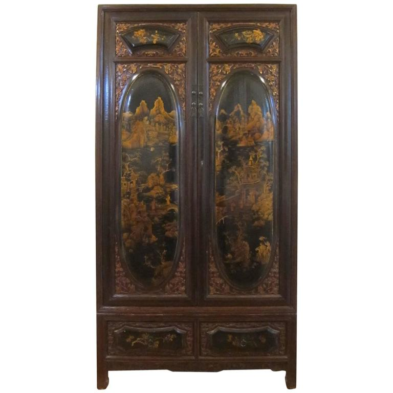 19th Century Gilt Painted Cabinet