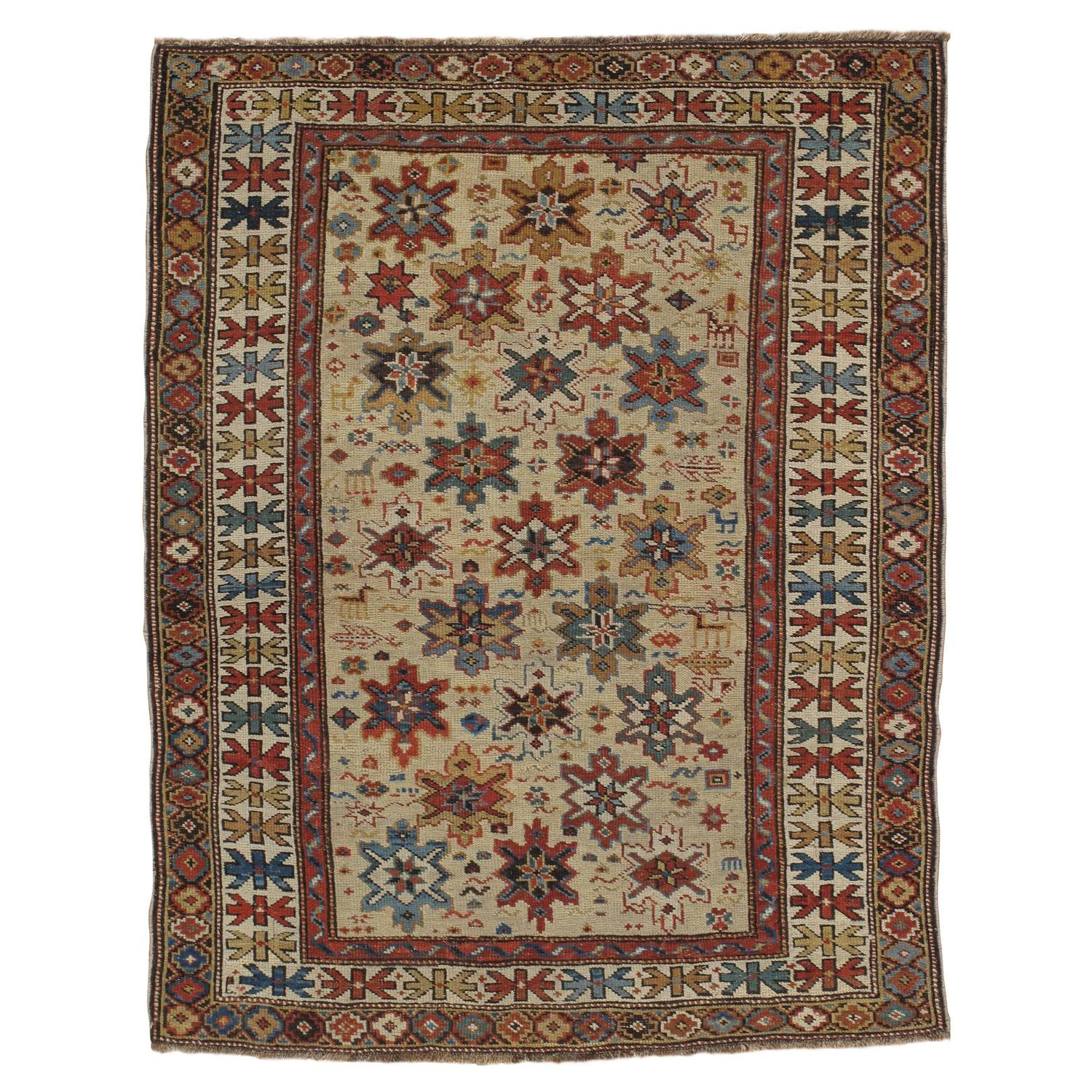 Antique Russian Shirvan Rug, Oriental Rugs, Russian Rugs