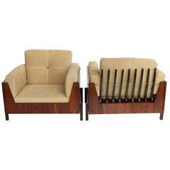 Brazilian Jacaranda 1960s Jorge Zalszupin Style Armchairs