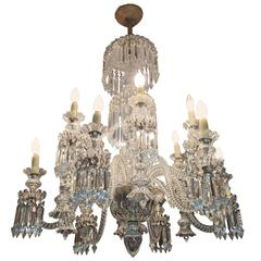 Amazing Crystal Chandelier attributed to Baccarat, France, 1870s