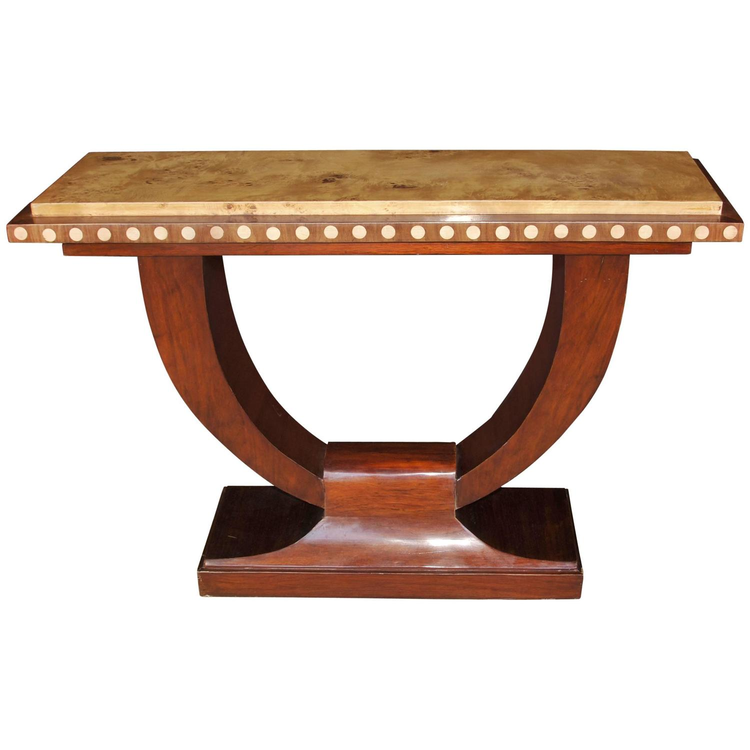 Art Deco Style U Console Table Hall Tables Interiors at 1stdibs