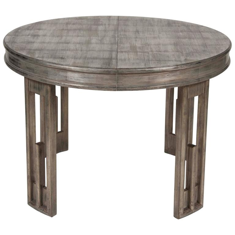 Silver leaf dining table by james mont for sale at 1stdibs - Silver dining tables ...