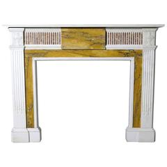 Large and Imposing 19th Century English Marble Fire Surround