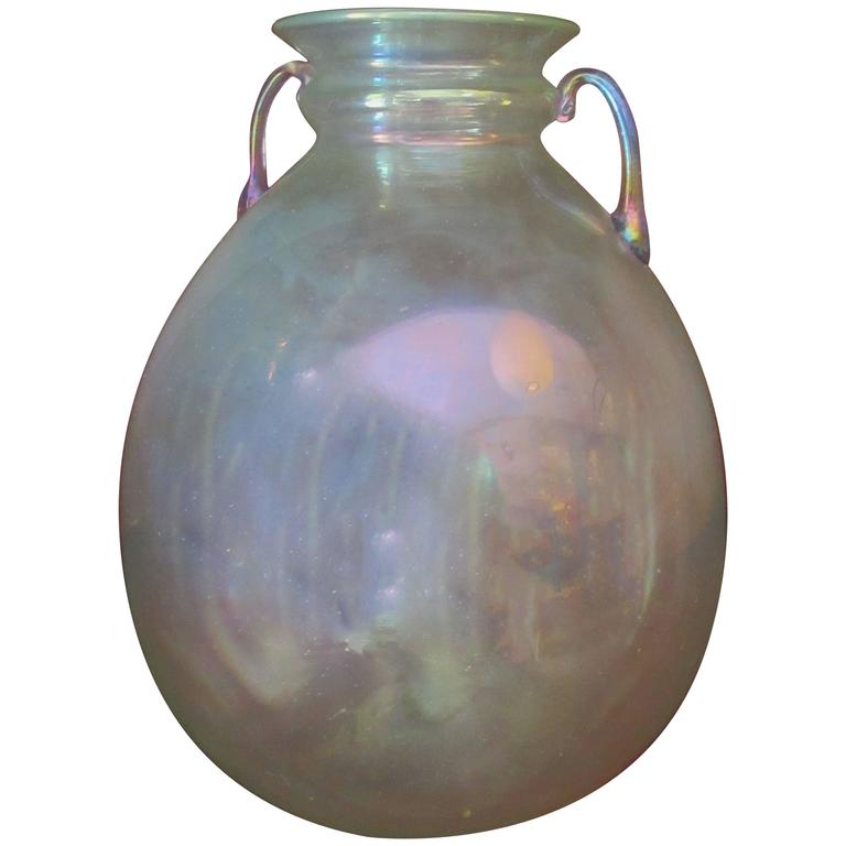 Blown Glass Vase, attributed to Vittorio Zecchin for MVM Cappellin For Sale