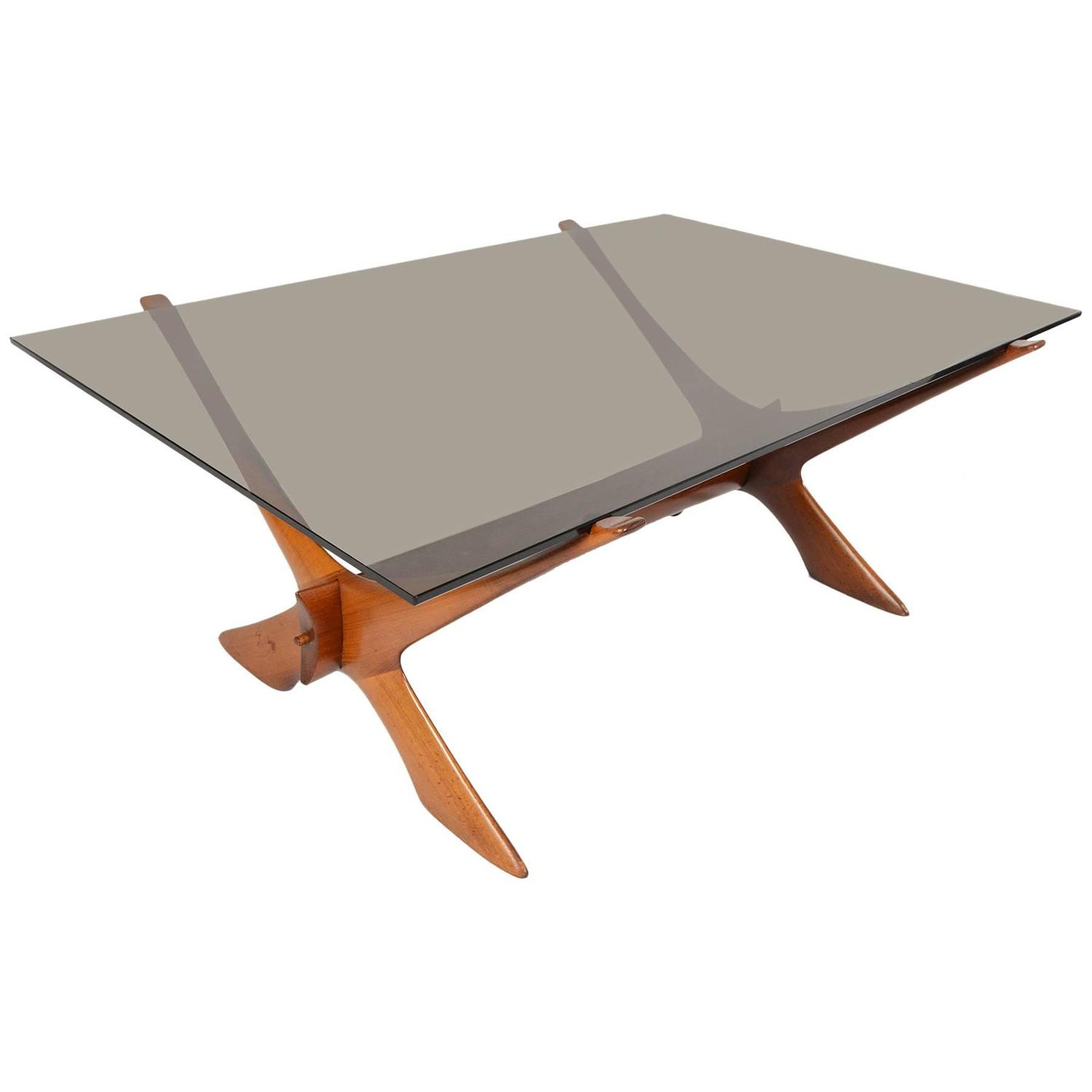Fredrik Schriever Abeln Condor Teak and Glass Coffee Table For