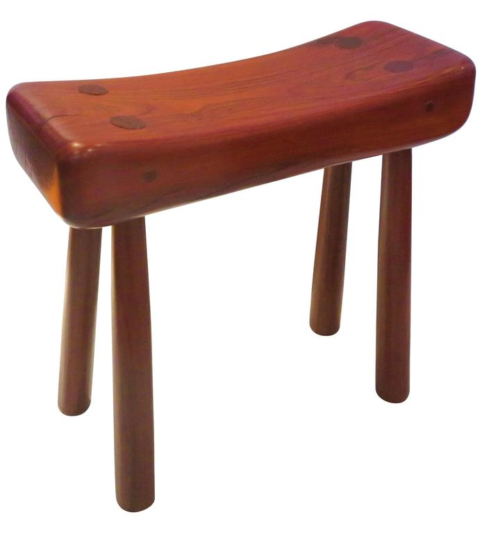 Danish Modern Mid Century Era Solid Rosewood Tribal Style