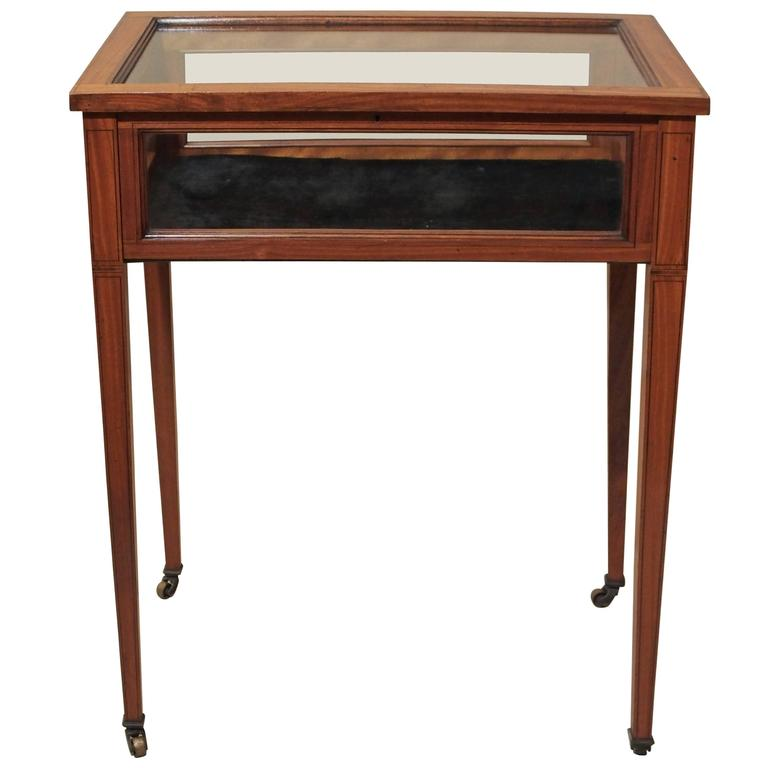 Antique English Satinwood Display Table Circa 1890 For Sale At 1stdibs