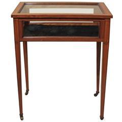 Antique English Satinwood Display Table, circa 1890
