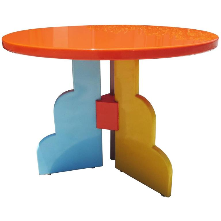 Memphis Furniture Company: Memphis Style Table By Milo Baughman For Thayer Coggin At