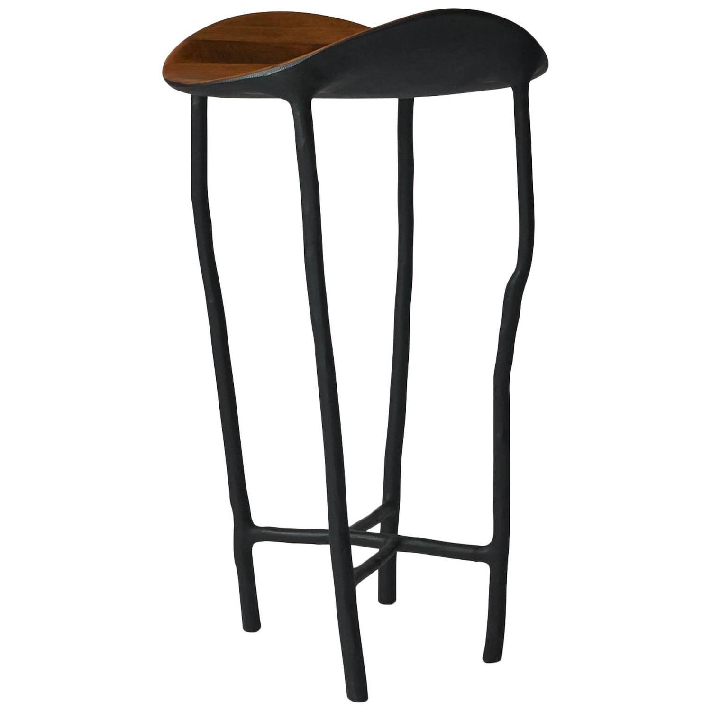 High Pedestal Table In Oak By Valentin Loellmann