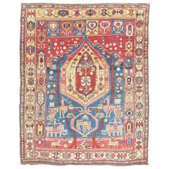 Ealry 20th Century Blue and Red Shirvan Rug