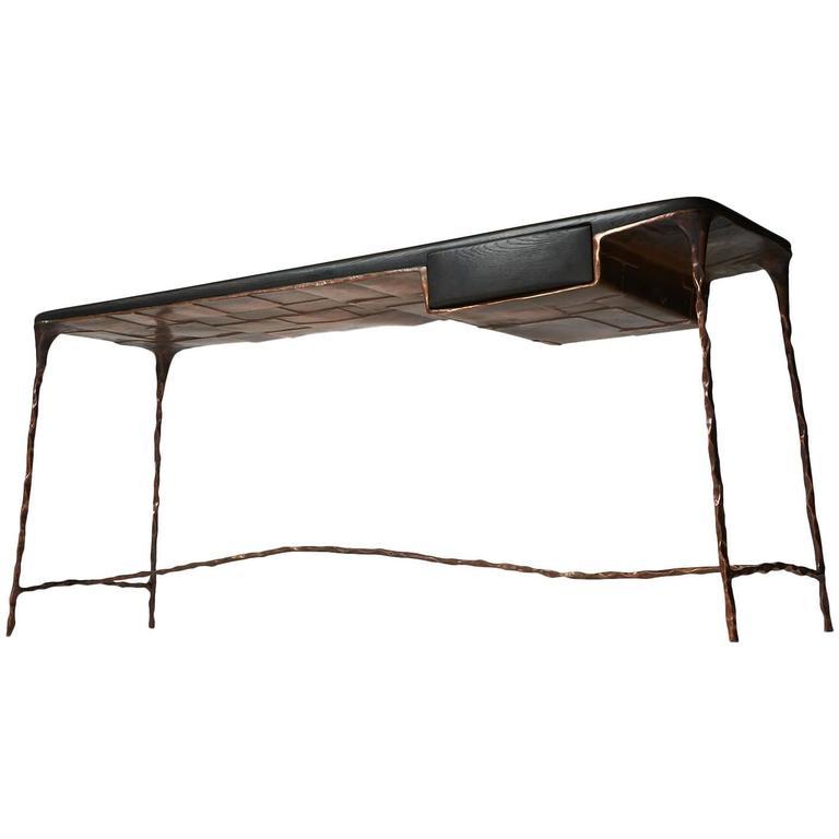 Copper Frame Desk by Valentin Loellmann