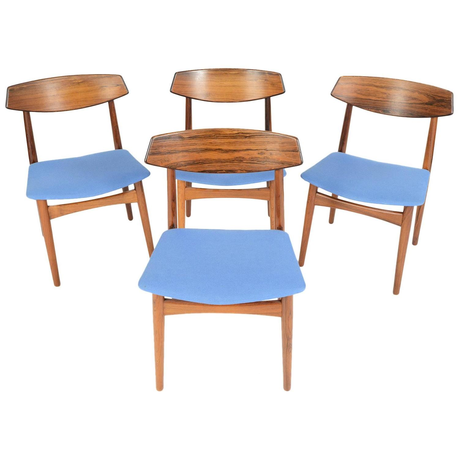 Set Of Four Danish Modern Rosewood Dining Chairs