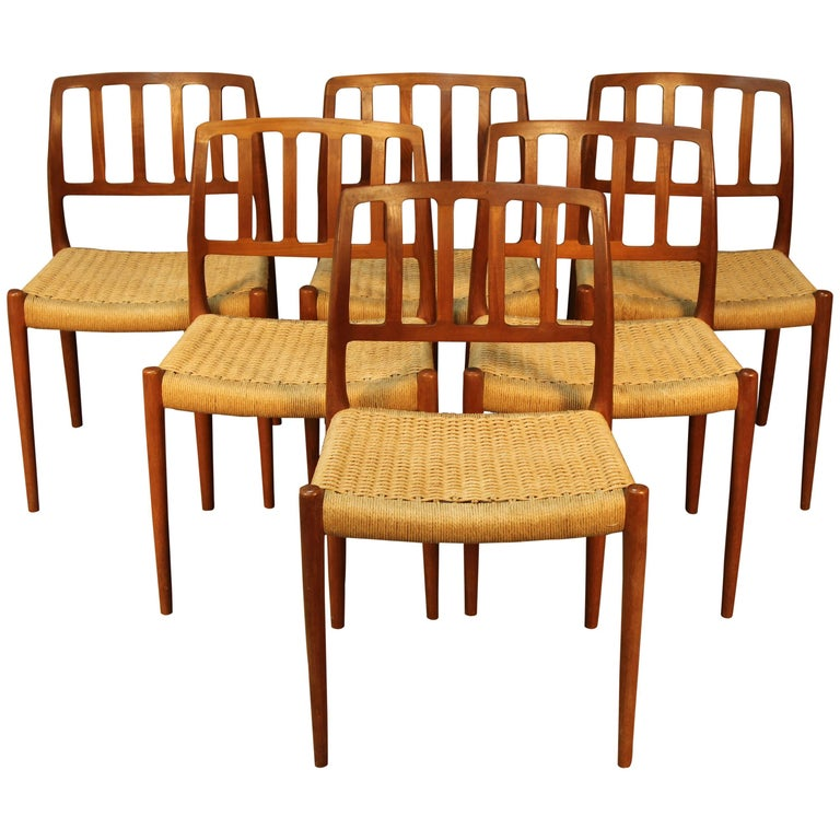 Set of Six Niels Otto Møller for J. L. Møller Dining Chairs For Sale