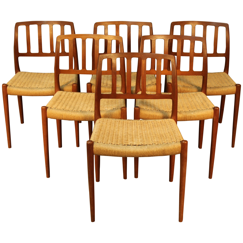 Set of Six Niels Otto Møller for J. L. Møller Dining Chairs