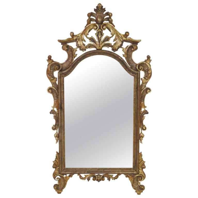 Antique Italian Gilt Carved Mirror