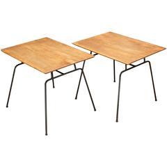 1950s Rare Early Paul McCobb Iron Rod Sofa End Tables