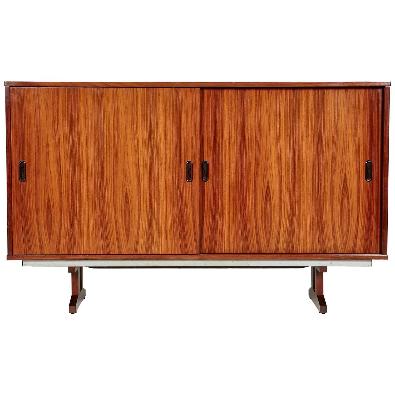 1960s brazilian rosewood sliding door office cabinet denmark for sale