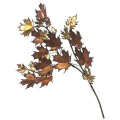 Curtis Jere MCM Maple Leaf Wall Sculpture