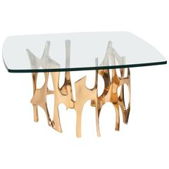 Bronze Organic Form Coffee Table by Frederique Brouard
