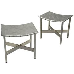 Pair of Stools by Michel Pigneres, France, circa 1970