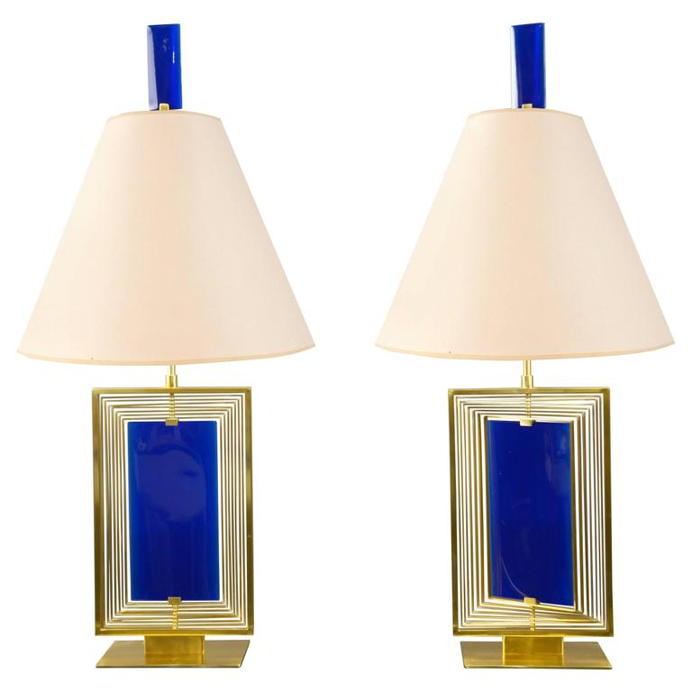 Pair of Lamps by Roberto Rida, Italy, 2016 For Sale