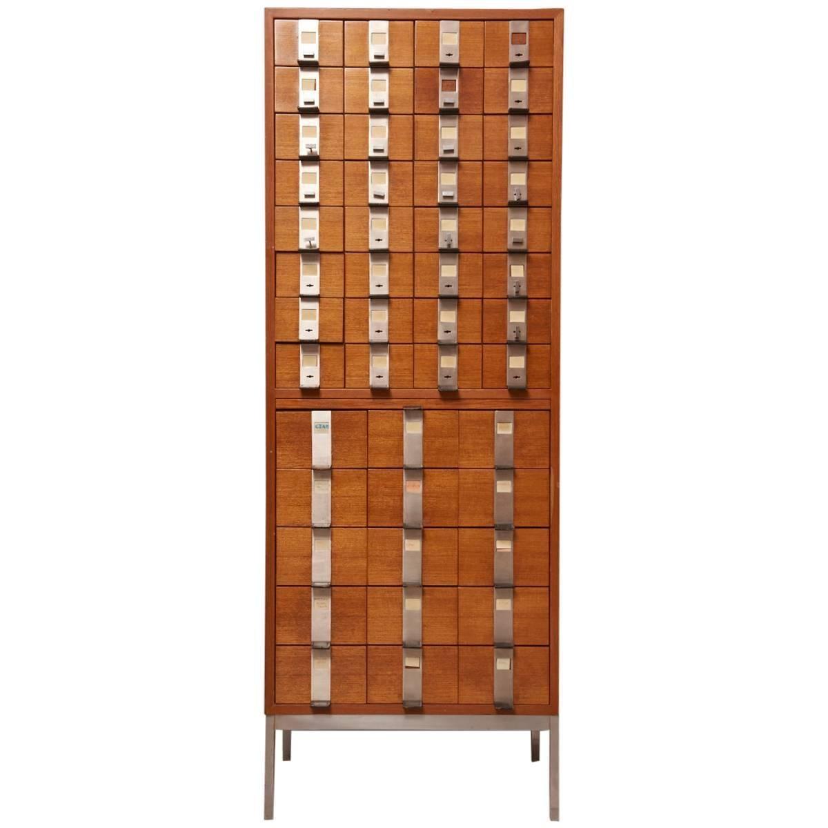 Massive Oak Cabinet with Drawers Designed by Kunstwerkstede de Coene