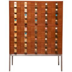 Cabinet with 45 Drawers Designed by Philippe Neerman for De Coene, Belgium