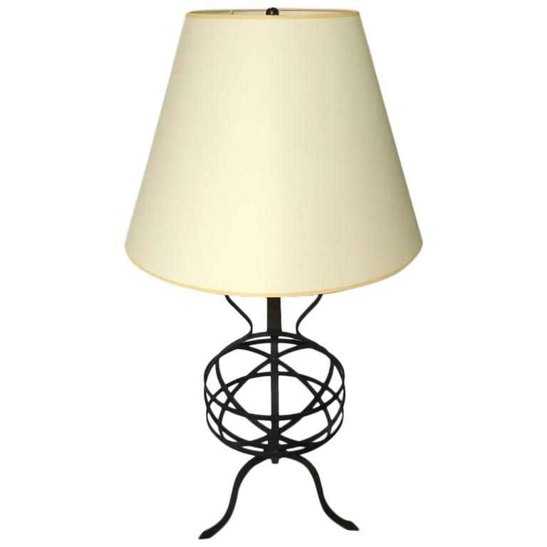 Large Iron Table Lamp For Sale At 1stdibs
