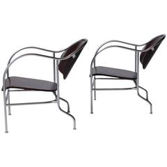 "Pair of ""Sven"" Easy Chairs by Mats Theselius"
