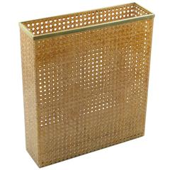 1970s Lucite and Rattan Umbrella Stand by Christian Dior Home Collection