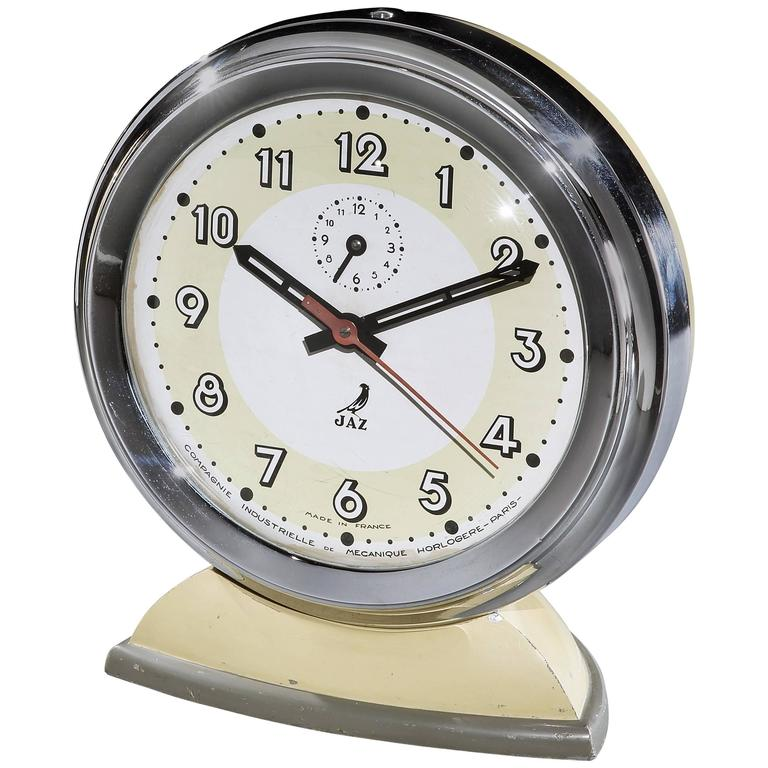 Giant art deco display alarm clock by jaz s a for sale at Art deco alarm clocks