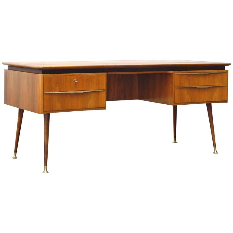 Mid Century Modern Desk By Erwin Behr 1950s For