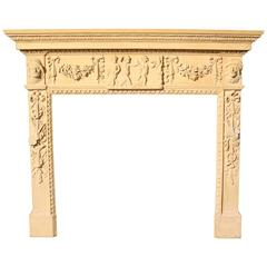 Carved Wood Fire Surround / Mantel, circa 1900