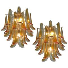 Pair of Charming Murano Chandelier, 1970s