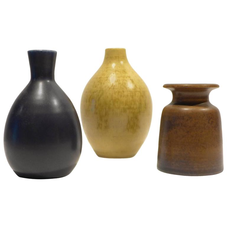 Jacques And Dani Ruelland Group Of Three Vases At 1stdibs