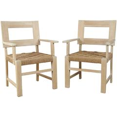 Pair of European Rush Chairs